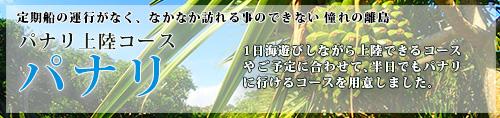 午後発!パナリ&幻の島上陸「2島巡りツアー」